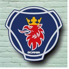 SCANIA LOGO 2FT GARAGE SIGN WALL PLAQUE CLASSIC CAR WORKSHOP V8 VABIS P G R S