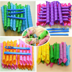 36X Magic Long Hair Ringlets Curlers Curl Formers Bendy Spiral Rollers Tool+Hook