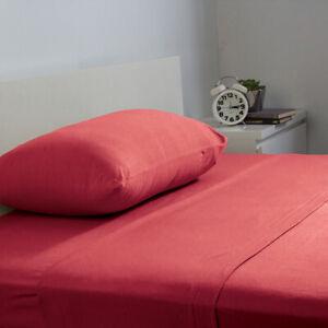 Bambury BedT Cotton Jersey Sheet Sets - Ruby