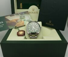 Mens Rolex Milgauss 116400 GV Oyster Perpetual 40mm Stainless BOX AND PAPER