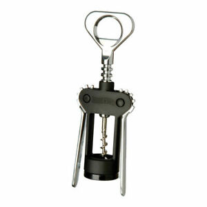 SWING-A-WAY Compact Winged Type Corkscrew - Black - Adjusts To Wide Lip Bottles