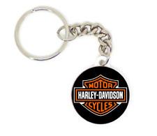 Porte clé badge harley davidson moto biker idée cadeaux logo personnalisation
