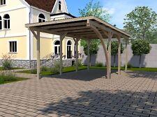 Weka Flachdachcarports Einzelcarport 606 A Gr.2 mit Rundbogen 268x579 cm