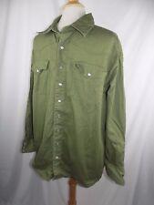 C.E. Schmidt Workwear Long Sleeve Green Thick Pearl Snap Shirt XL