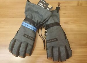 Dakine Men's Leather Titan GoreTex Snowboard Gloves Carbon No inserts Sz 8 Small
