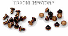 6mm Diameter Antique Copper Plated Compression Rivets Package of 12