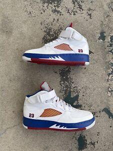 Nike Air Jordan-5 (GS) 7Y 318609-162 White Varsity Red Jordan 5 x Air Force 1