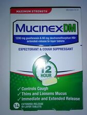 14 Mucinex DM Maximum Strength 1200 mg Extended-Release Tablets NEW