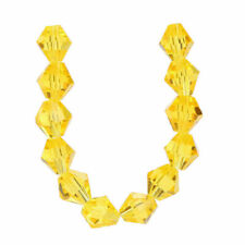 8mm 50pcs Bicone Faceted Crystal Glass Loose Spacer Beads Jewelry Making Bead#G