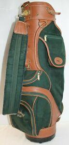 Callaway Big Bertha Canvas and Leather Golf Bag Green/Tawny Brown