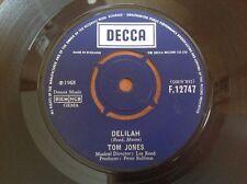 """Tom Jones - Delilah / Smile   7"""" Vinyl Single  F 12747  1968"""