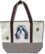 E&S Dog Tote Bag Cotton Canvas Xl New - Shih Tzu