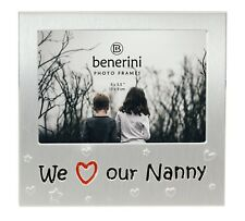 We Love Our Nanny Photo Picture Frame Mother's  Day Birthday Christmas Nan Gifts