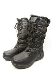 Totes Tracey Womens Insulated Winter Boots Black Size 9W