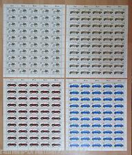 Bund 1123 - 1126 postfrisch Bogensat Bogen BRD Mi. 240 Euro Full sheet FN 1+ 2