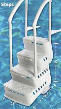 Innovaplas Biltmor In-Pool Aboveground Pool Step w/Handrail, Deck Mounts & Light