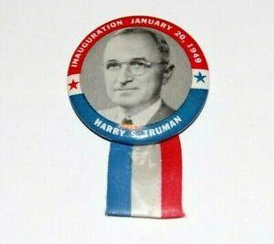 '49 HARRY TRUMAN INAUGURATION campaign pin pinback button political presidential