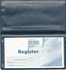 1 NEW VINYL CHECKBOOK COVER WITH DUPLICATE FLAP  AND REGISTER NAVY BLUE