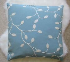 French Provincial Duck Egg   blue &  White vine leaf floral chic Cushion Cover