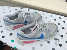NIKE AIR MAX TRAINERS BLUE GREY WHITE SIZE UK 3.5 OLDER BOYS