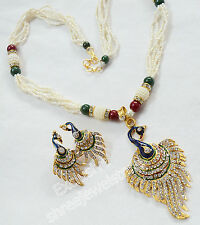 Designer Gold Plated Diamond Kundan Necklace Earring Ethnic Party Jewellery Set