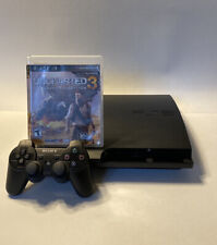 Sony PlayStation 3 Slim 320GB Bundle - Uncharted 3 Sleeve & Box + Game