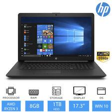 "HP 17-ca1012na 17.3"" Windows 10 Laptop AMD Ryzen 3 3200U 8GB RAM, 1TB HDD, DVDRW"