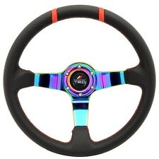 90-96 Tercel 350MM Black CF Look Neo Spoke Steering Wheel Racing-TRD + Adapter