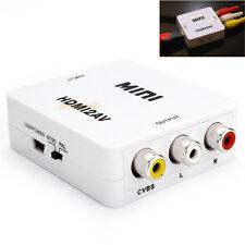 HDMI to RCA Composite Video Audio AV CVBS Adapter Converter 720p/1080p HDMI2AV