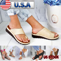 Women Comfy Platform Sandal Footed Shoes Wedges Bunion Corrector -FREE SHIPPING