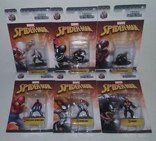 Jada Nano Metalfigs Spider-Man 2099 Stealth Kid Arachnid Spider-Girl Venom Lot