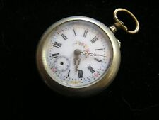 Antique Remontoire  Cylindre 6 Rubis Pocket Watch Beautiful Dial