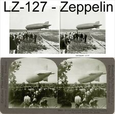 20 seltene Stereofotos Graf Zeppelin LZ127 Hugo Eckener, Airship