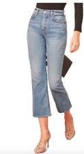 NEW $128 Reformation Jordi Kick Flare Jeans in Antigua Destroyed 30