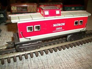 MARX MONON 3855 PASSENGER CARS  0 SCALE ,