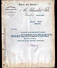 """GRENOBLE (38) SCIERIE à MOUTIERS-SALINS 73 / BOIS """"M. BLANCHET Fils"""" 1907"""
