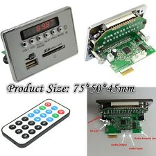 12V LCD Bluetooth Wireless MP3 Decoder Board Audio Module FM w/Remote Controler