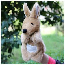 Q animal Kangaroo plush toy hand puppet baby placate toy telling story gift 1PC