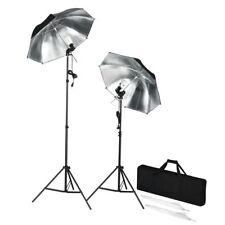 Kit de studio photo lampes flash pieds et parapluies
