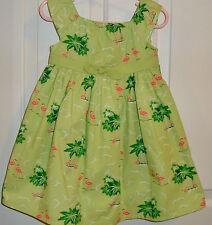 Nwt Gymboree Palm Beach Paradise Flamingo Green Diaper cover girl dress 3T
