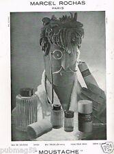 A- Publicité Advertising 1952 Parfum Eau de Cologne Moustache Marcel Rochas