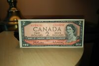 1954 $2 Dollar Bank of Canada Banknote UR3204182 Crisp