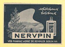 9/507 WERBUNG AUS EINER DDR ZEITSCHRIFT NERVPIN DR. REMMLER BERLIN VEB DDR