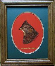 Ruffed Grouse Head Study Giclee Acrylic Reproduction S/N Ducks Unlimited Edition