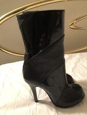Maison Margiela Tabi Black Patent and Leather Boot Size 38 NWOB