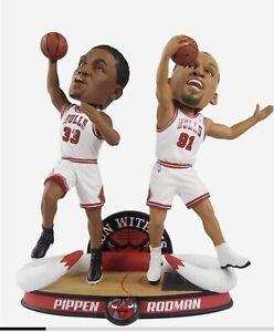"SCOTTIE PIPPEN & DENNIS RODMAN Chicago Bulls ""Run With Us"" Bobblehead #/360 NIB!"