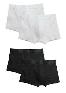 2 x Hanes Stedman Stretch Cotton Mens Mans Black or White Boxers Boxer Shorts