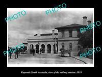 OLD LARGE HISTORIC PHOTO OF KAPUNDA SA, VIEW OF THE RAILWAY STATION c1910