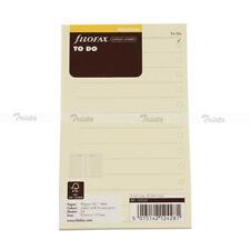Filofax Book Personal Size Cotton Cream To Do Notepaper Refill Insert 132253 J
