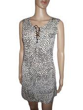 Womens Vtg Italian Design Sequin Evening Cocktail Party Print Dress sz M/L AL24